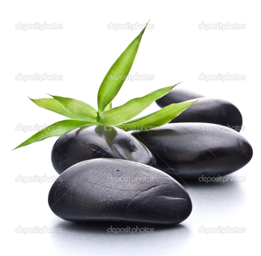 Zen pebbles. Stone spa and healthcare concept.