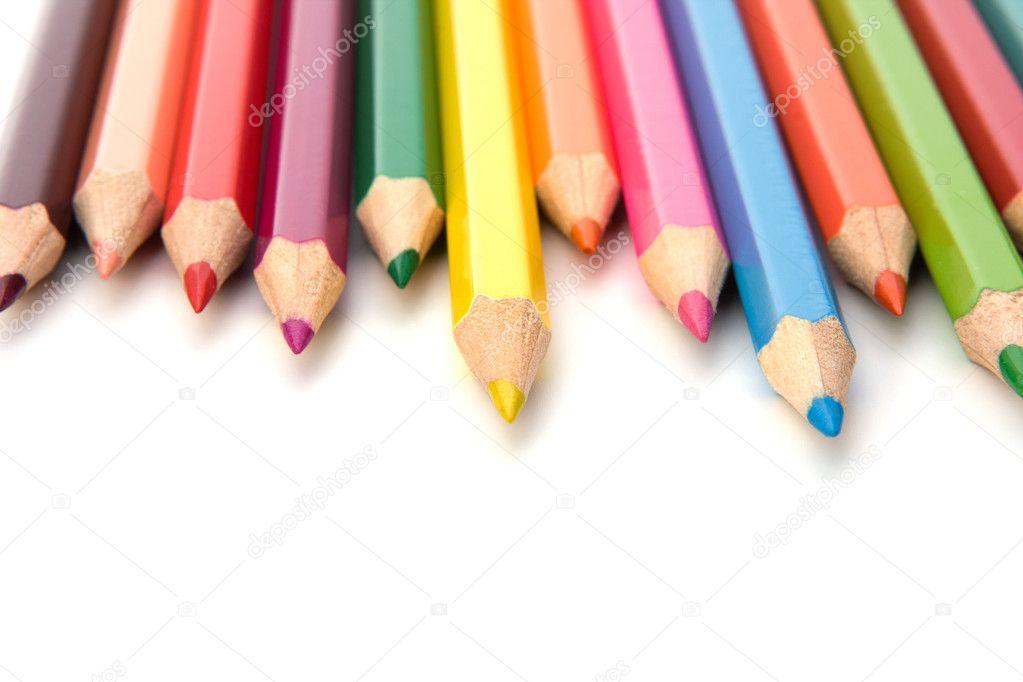 lápices de crayón de colorante — Foto de stock © natika #11415795