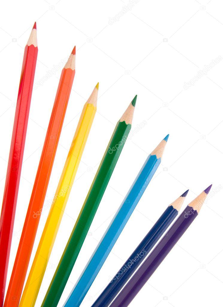 lápices de crayón colorante manojo — Fotos de Stock © natika #11415800
