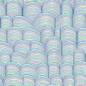 barevné abstraktní ručně kreslený vzor bezešvé, vlny pozadí