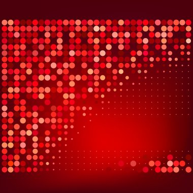 Abstract Red Halftone Dots Vector Background clip art vector