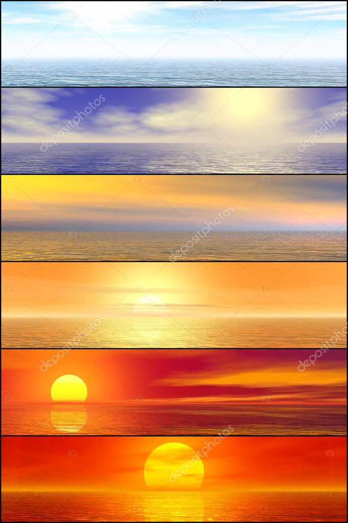 Sunshine seascape header set