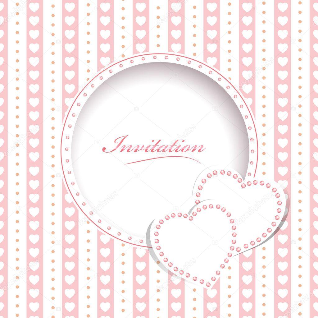 Hochzeitseinladungskarte Stockvektor C S Razvodovskij 10966533