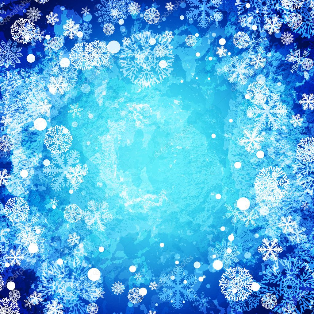 Winter abstract frozen background