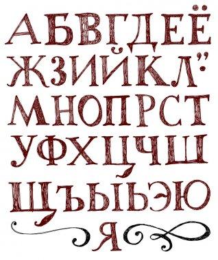 Vector alphabet. Hand drawn letters & figures.
