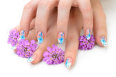 Photo Nail art and flower