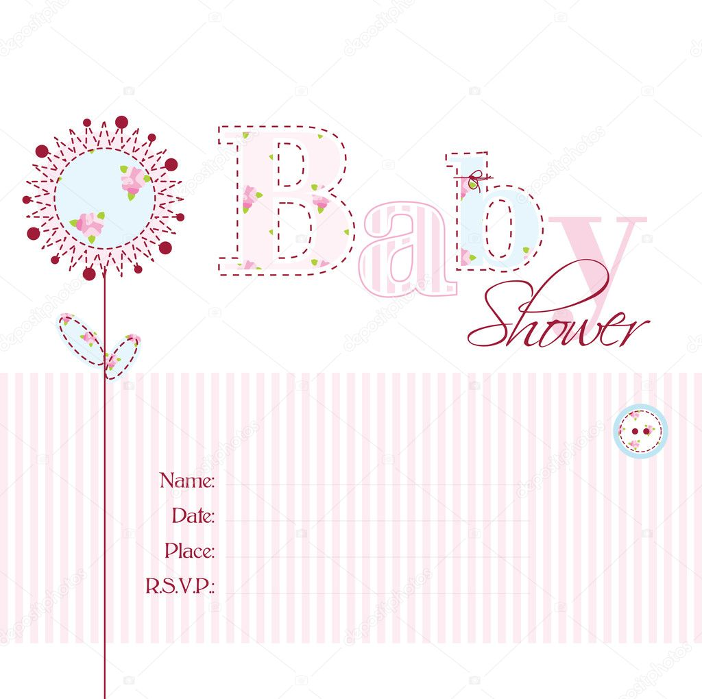 Babyparty-Einladung — Stockvektor © LeonART #11020096