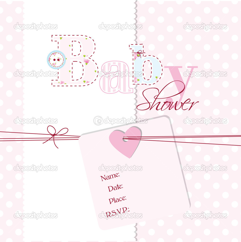 Babyparty-Einladung — Stockvektor © LeonART #11020137