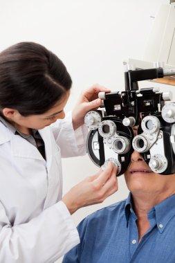 Eye Examination With Phoropter