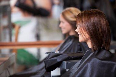 Women Sitting in Beauty Salon