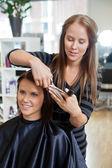 Fotografie Woman Having a Haircut