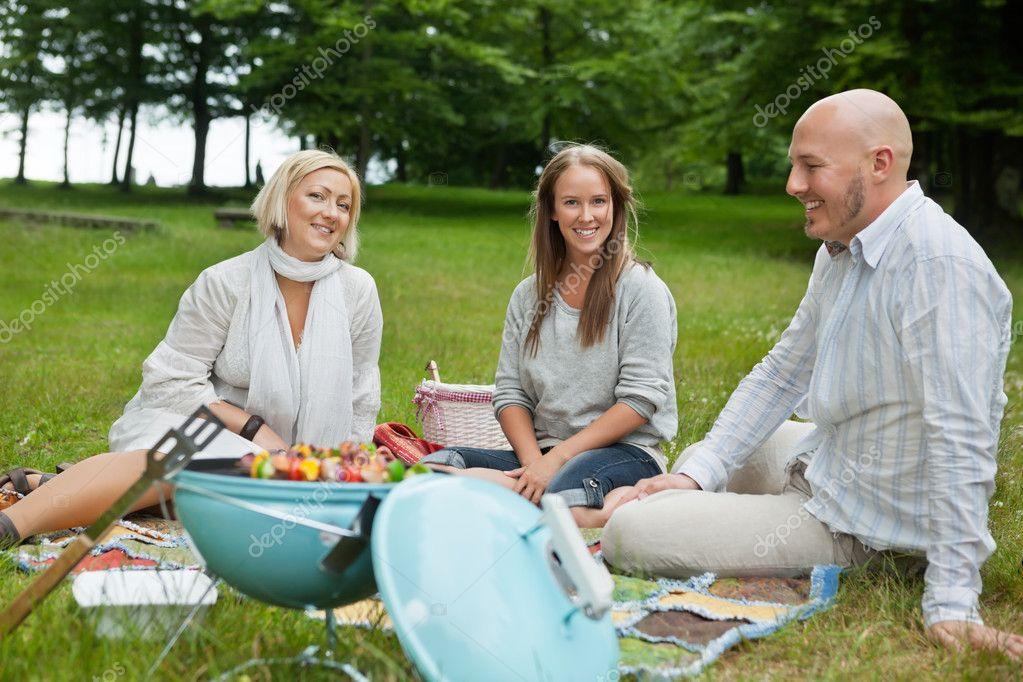 Happy Friends Having Picnic