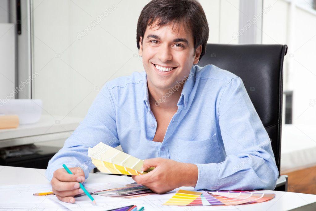 Male Interior Designer at Office