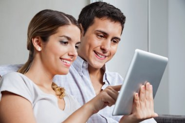 Young Couple With Tablet PC