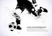 Fotografie Grunge Soccer Poster