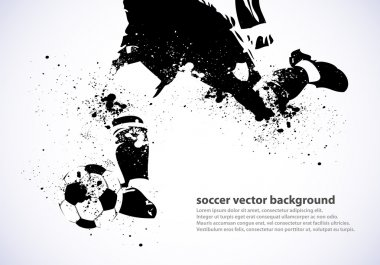Grunge Soccer Poster abstract vector background, eps stock vector