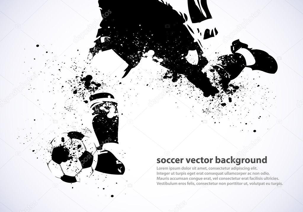 Grunge soccer poster stock vector