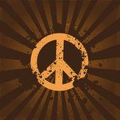 Grunge-Friedenssymbol