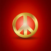 Fotografie Golden Friedenssymbol