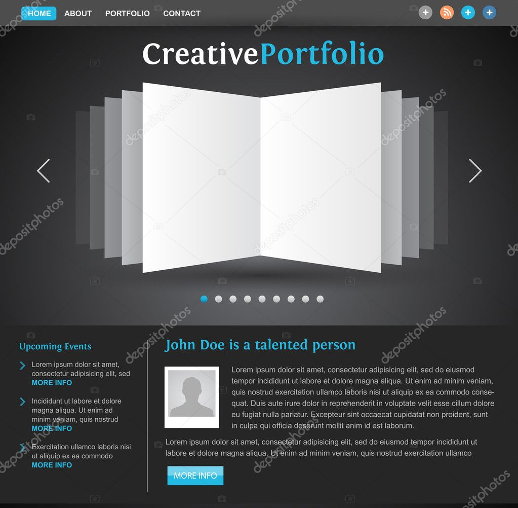 Photography: design portfolio templates | Web design