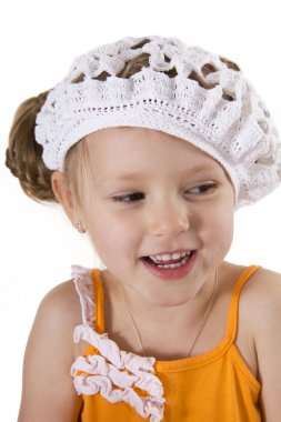 Cheerful little girl smile.