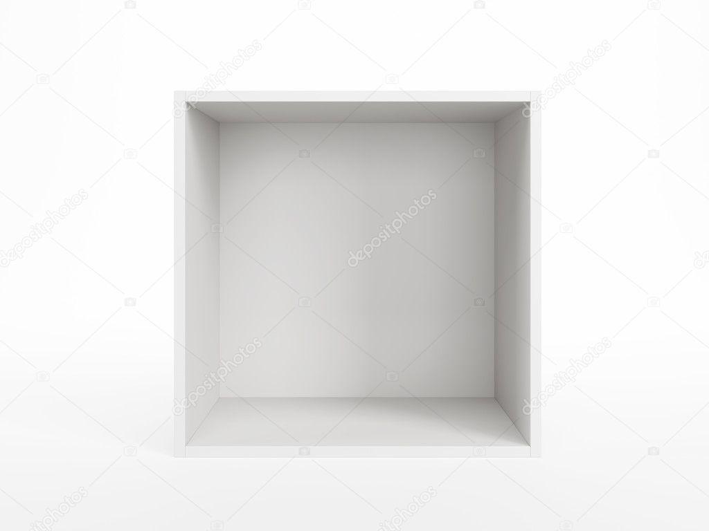 Isolated empty white box