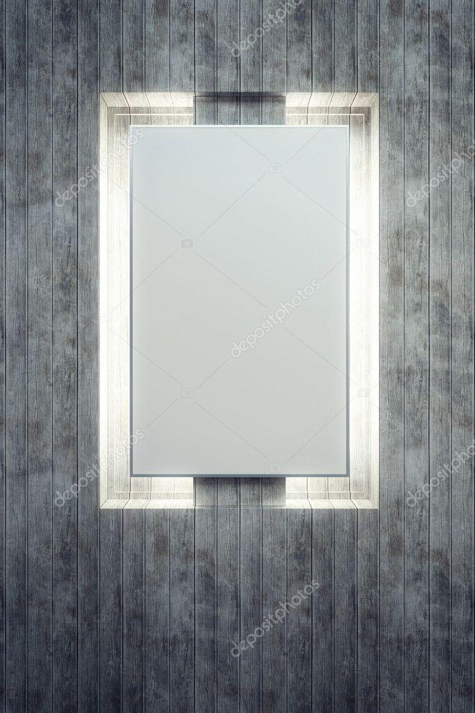 cartelera retroiluminada en blanco — Fotos de Stock © auriso #10744433