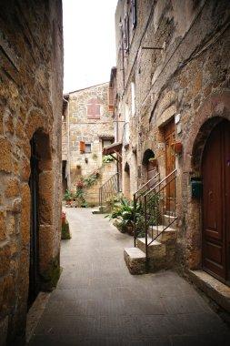 Small backstreet in an italian village