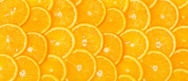 Panorama from Sliced orange background