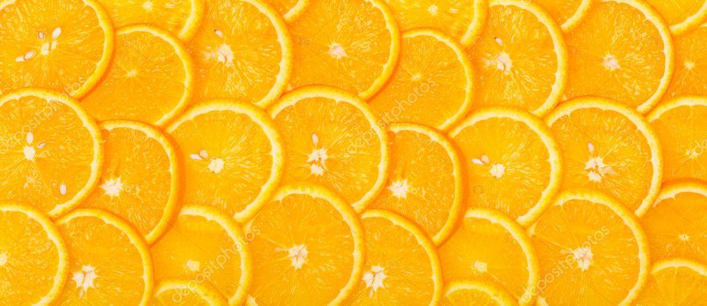 Panorama from Sliced orange background