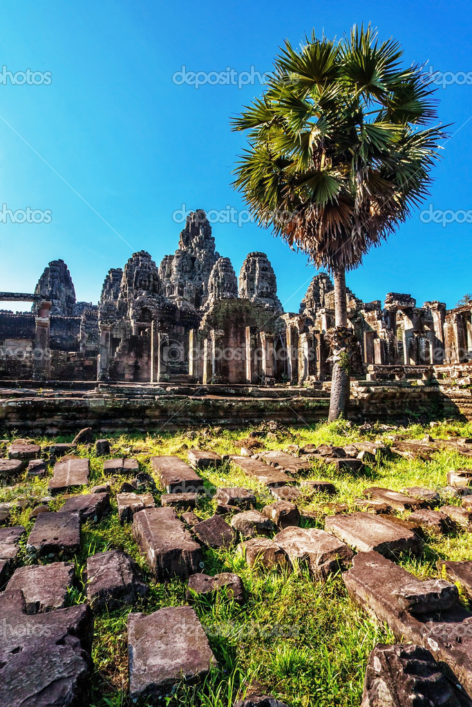 Ancient buddhist khmer temple