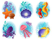 Photo Sea animals icons