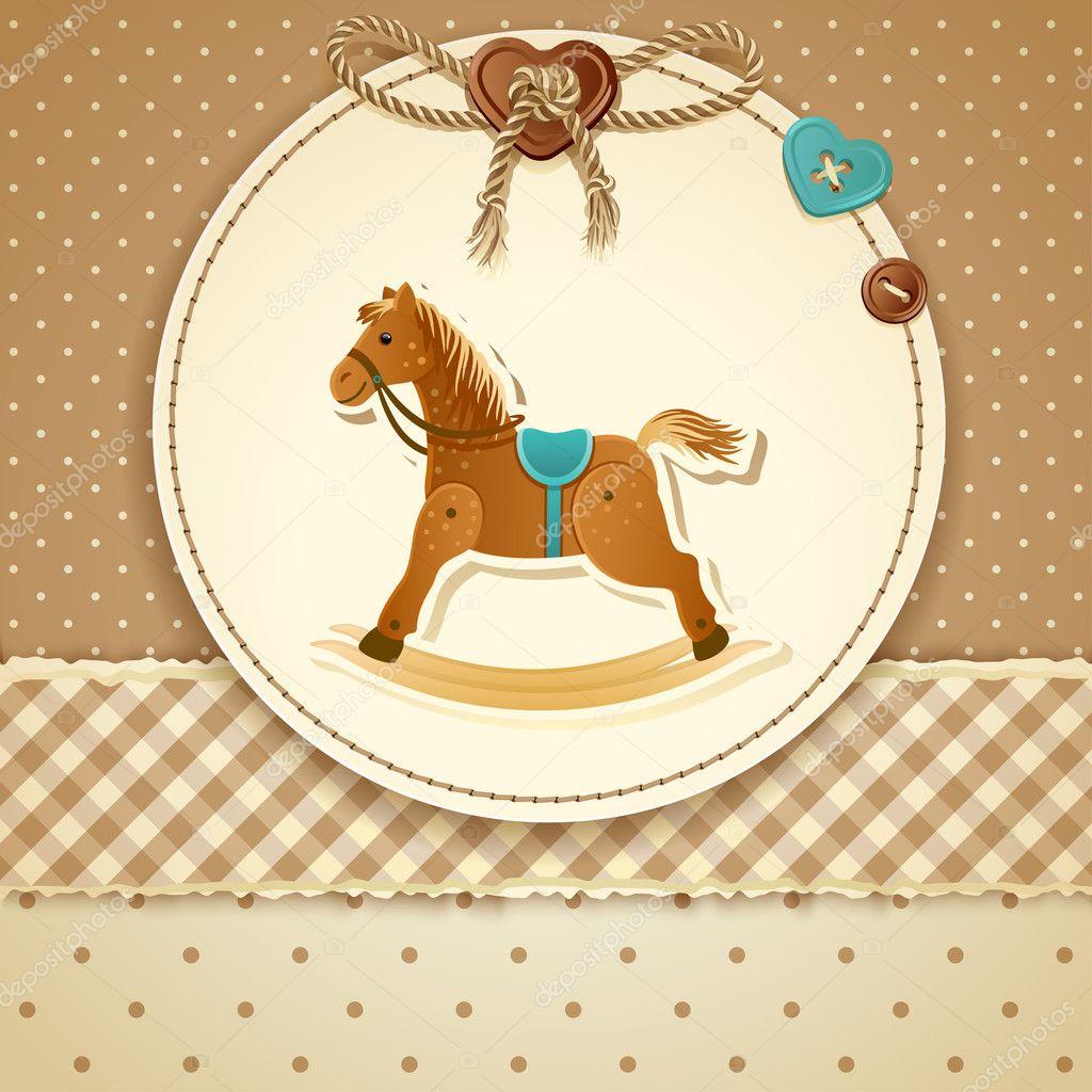 Открытки для детей лошадки, открытки крещением господним