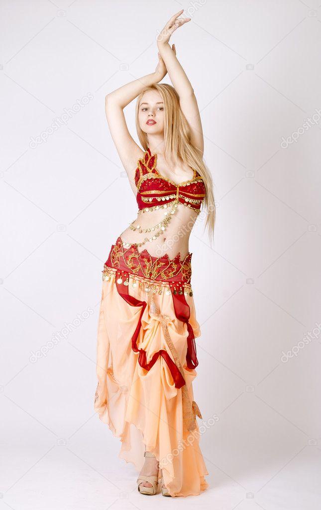 Beautiful young blonde, Arab Dance