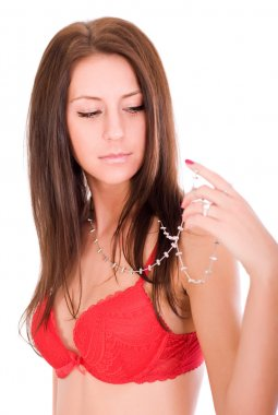 Young beautiful woman wearing jewellery