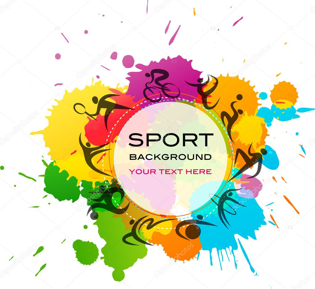 Sport background - colorful vector illustration