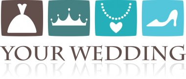 Wedding icons and graphic elements - vector clip art vector