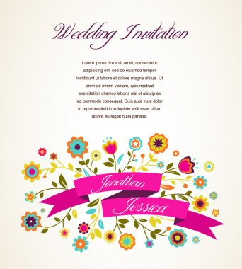Greeting card, invitation, wedding or announcement