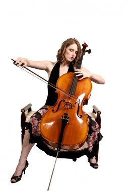 Woman cellist