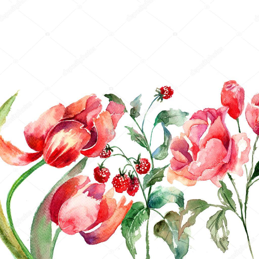 Beautiful Flowers Stock Photo Jershova 11648294
