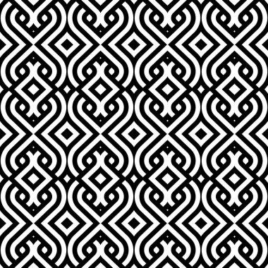 Abstract vintage pattern wallpaper seamless background. Vector illustration clip art vector
