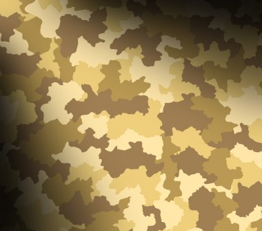 Desert camouflage pattern lit diagonally