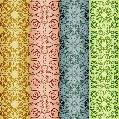 vector retro seamless patterns