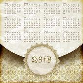 Vektor 2013 Kalender im retro-Stil