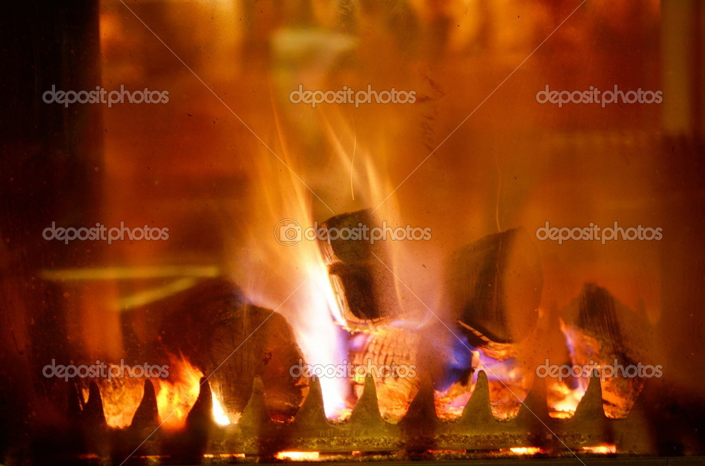Fireplace flame background