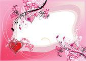 dekorace s červeným srdcem