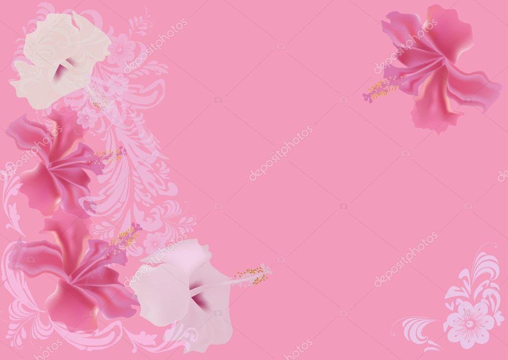 Light Pink Flower Background Stock Vector Drs 12357265