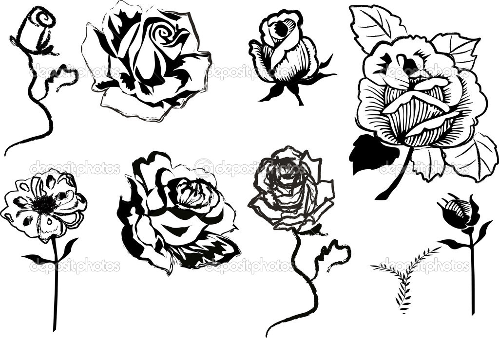 Line Art Rose Flower : How to draw a rose easily with pictures ehow