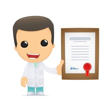 Funny cartoon doctor