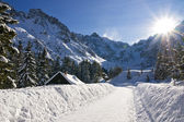 Photo Panoramic Polish Tatras in winter scenery